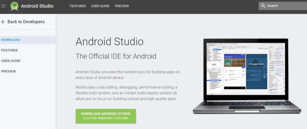 download link for android studio